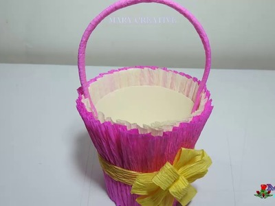 DIY Paper Basket | How to make a  paper basket origami | Accordion Paper Basket- Chocolate Basket