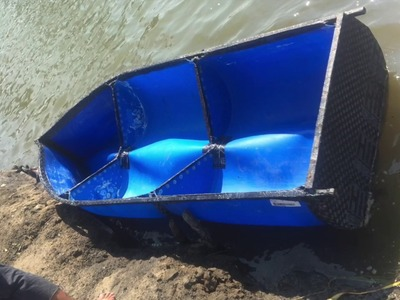 DIY plastic barrel boat project