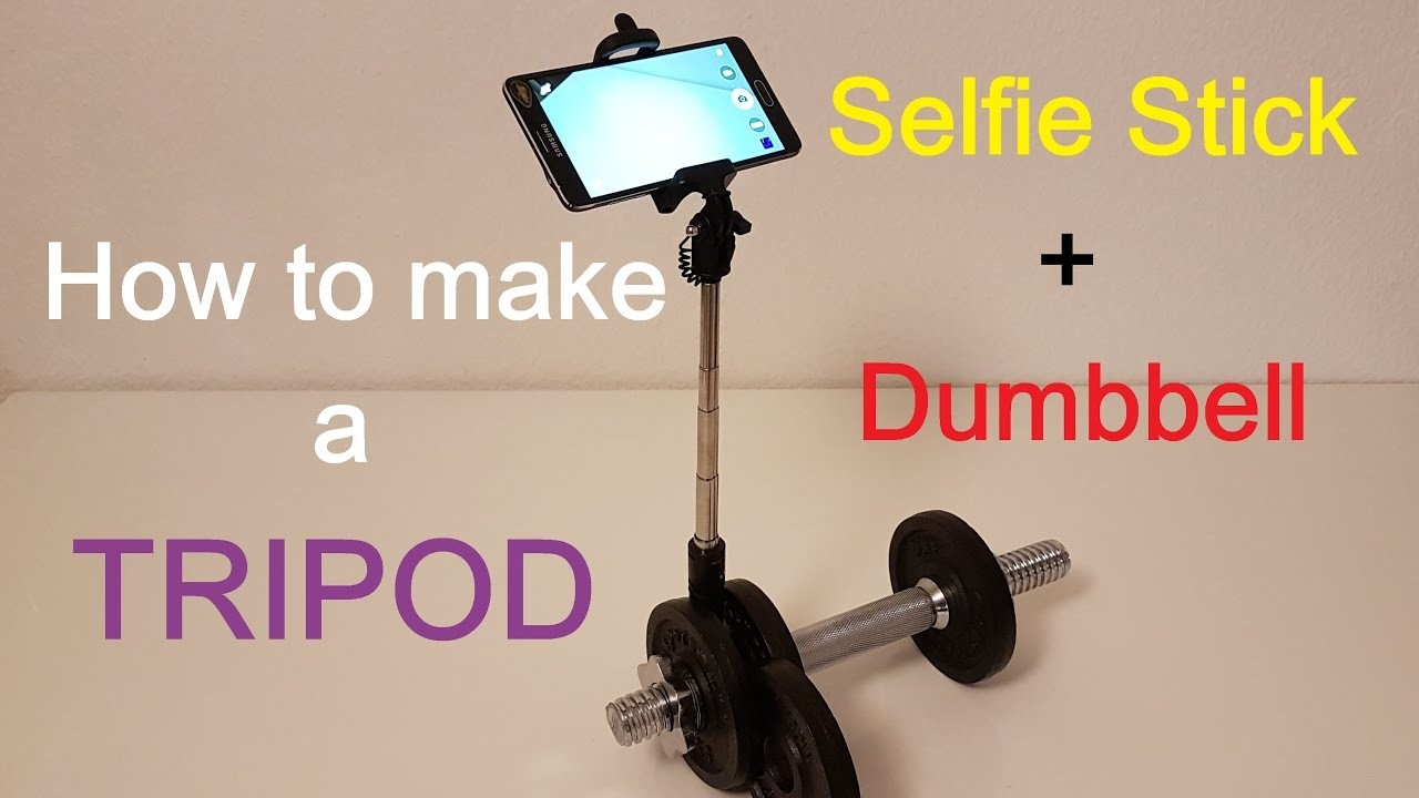 diy tripod in 15 seconds selfie stick dumbbell the best for smartphone my crafts and diy projects. Black Bedroom Furniture Sets. Home Design Ideas