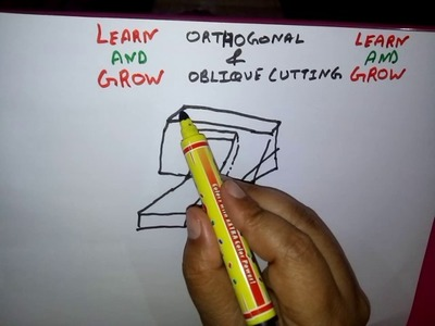 ORTHOGONAL AND OBLIQUE CUTTING(FOR LATHE AND PLANNER ) हिन्दी  !