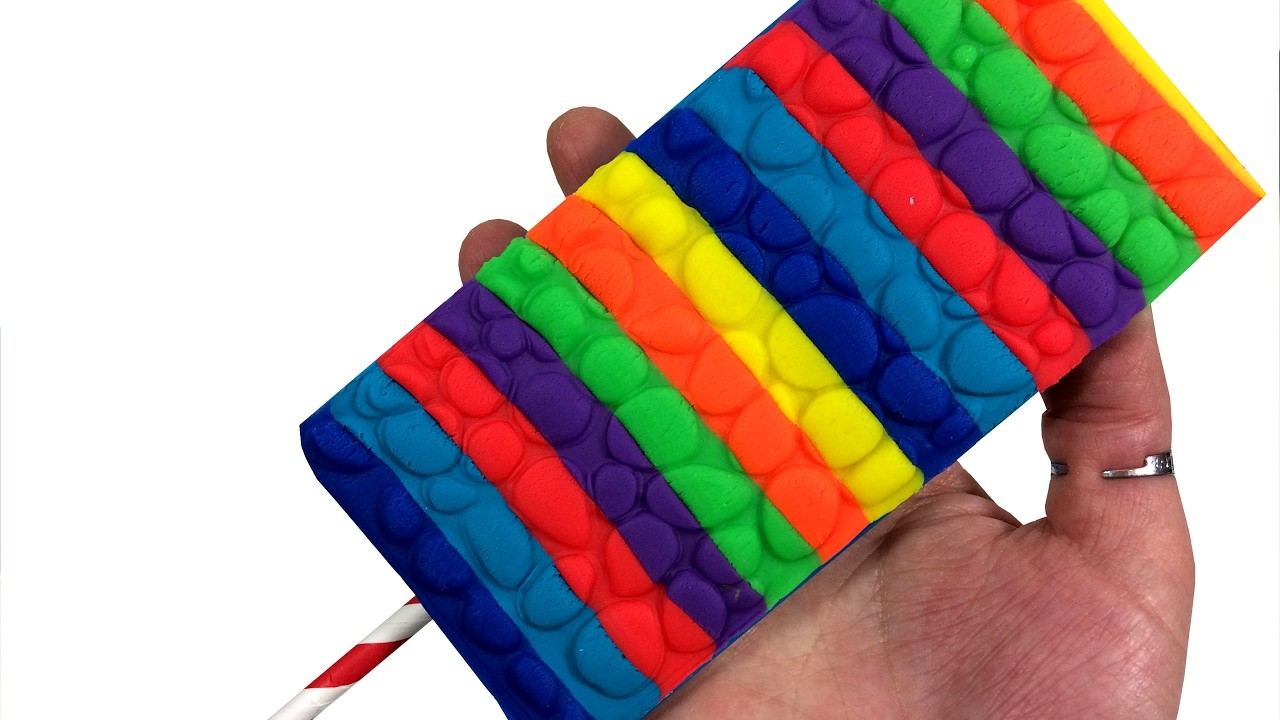Play Doh How To Make Rainbow Ice Cream DIY Creative for Children