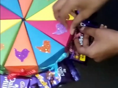 Cake box || handmade card || handmade box || origami