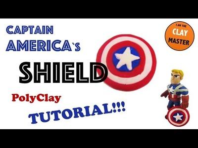 Captain America`s SHIELD ESCUDO Tutorial (Polymer Clay, Plastilina)