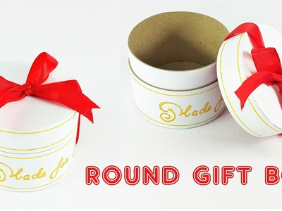 DIY Round Gift Box | How To Make A Round Gift Box Out Of Cardstock Paper