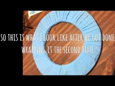 DYI.VLOG ON HOW TO MAKE A DIAPER WREATH