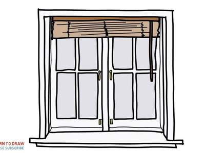Easy Step For Kids How To Draw a Windows With Blinds