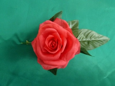 How to make a beautiful silk rose.