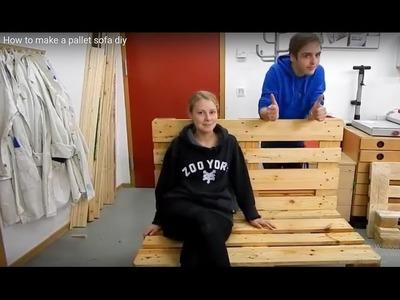 How to make a pallet sofa diy