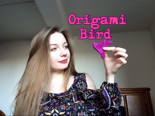 how to make an origami bird cage