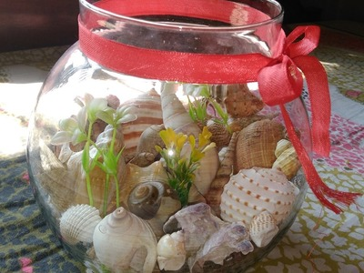 Reusing an old Fishbowl || DIY Room decor || Seashell collection display