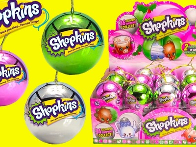 36 NEW 2016 Shopkins Christmas Ornaments Full Case Opening
