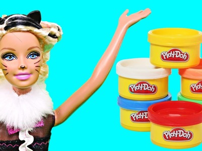 Barbie Fantastic Hair Chalk Color Change Halloween Costume Barbies Doll Hair Play Doh by DCTC