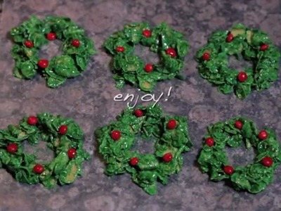 Christmas Cookie Recipes - How to Make Christmas Wreaths