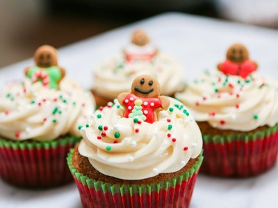 CHRISTMAS CUPCAKES!! (Gingerbread)