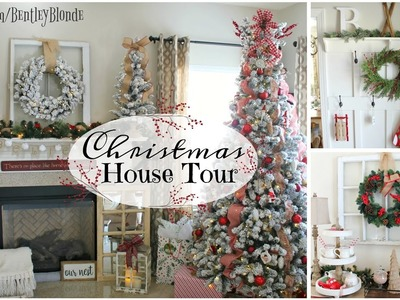 CHRISTMAS HOUSE TOUR 2016 | Farmhouse Decor on a Budget!