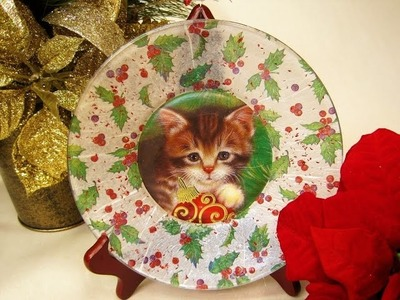 Christmas Plates using Recycled Cards ~ Featuring Miriam Joy