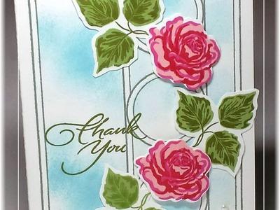 Create a Rose Trellis Card with Triple Play Frame