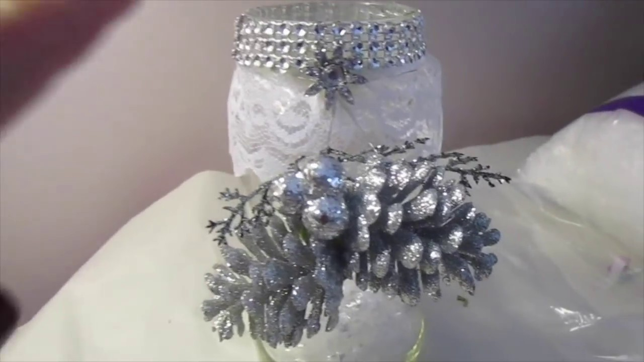 Day #11 Recycle Jars into Bling Holiday Decor   12 days of Christmas Crafts