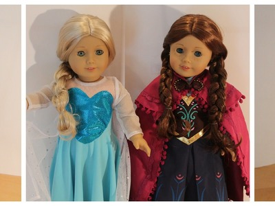 Disney Frozen Anna Costume Opening for American Girl Dolls!