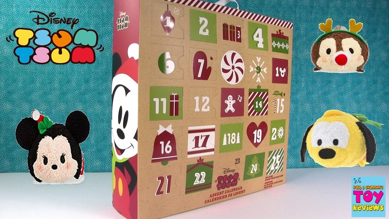 Disney Tsum Tsum Exclusive Plush Advent Calendar Unboxing Opening Toy Review | PSToyReviews