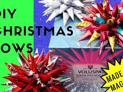 DIY Christmas Bows - SHELLEY BEANS