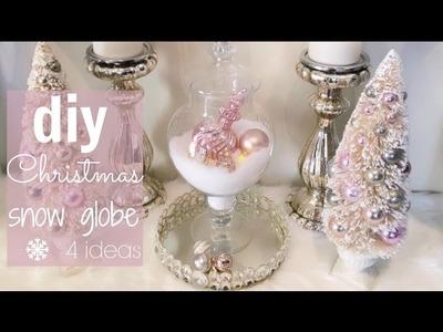 DIY Christmas Snow Globe Terrariums - christymel