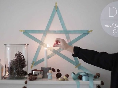 DIY: Christmas star decoration by Søstrene Grene