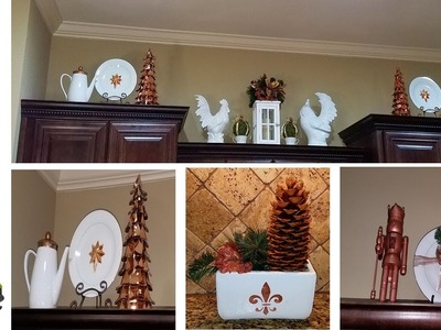 DIY Decorating Cabinet Ledges For Christmas 2016