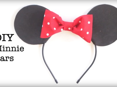 DIY Easy No Sew Mickey and Minnie Ears