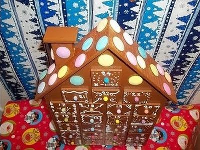 DIY ginger house christmas advent calendar