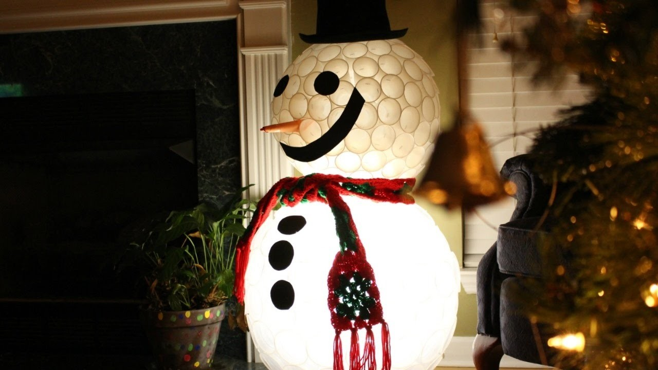 DIY PLASTIC CUP SNOWMAN | FUN CHRISTMAS PROJECTS