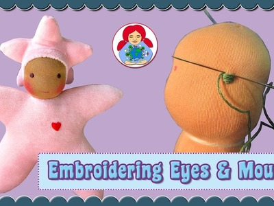 DIY | Star Baby Doll Part 3: Embroidering eyes and mouth | Sami Doll Tutorials