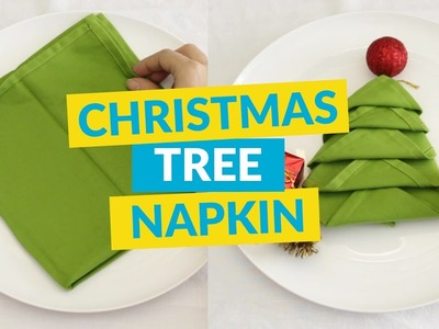 Easy Christmas Tree Napkin For The Dinner Table!