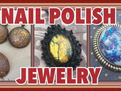 Easy Faux Dichroic Glass Jewelry With Nail Polish - Watch Me Make It!