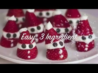 Fat Burning Foods | 3 Ingredient Strawberry Santas! Cute Christmas Recipe