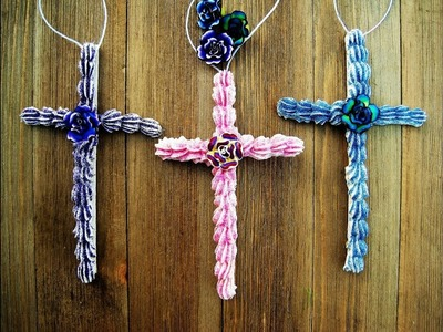 Frosted Crosses Ornaments ~ Featuring Miriam Joy