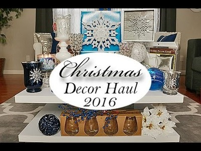 Holiday.Christmas Decor Haul | Homegoods, Ross, Hobby Lobby, Walmart | Winter 2016
