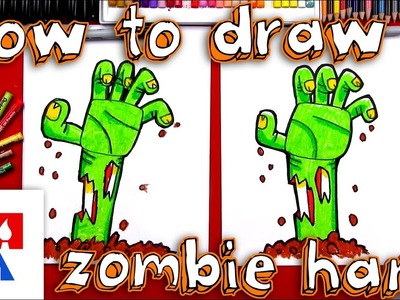 How To Draw A Zombie Hand Coming Out Of The Ground