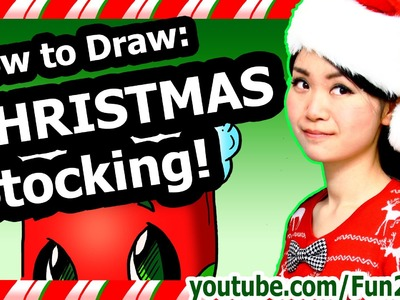 How to Draw Christmas - Cute Stocking - Fun2draw Winter Holiday Decoration drawings