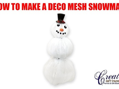 How to make a Deco Mesh Snowman