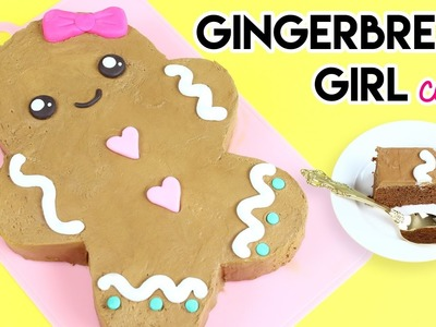 How to Make a Gingerbread Girl Cake!