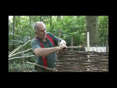 How to make a hurdle with hazel and handtools