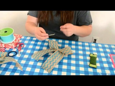 How to Make a Simple Burlap Bow