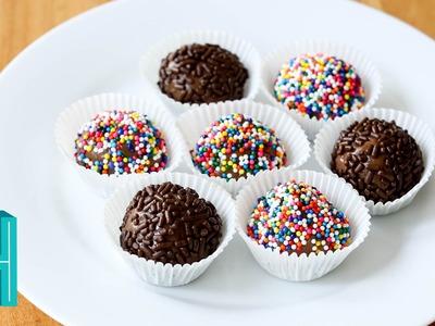 How to Make Brigadeiro! Brazilian Candy Recipe | Hilah Cooking