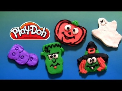 How to make Play Doh Halloween Monsters Frankenstein Wicked Witch Ghost playdough