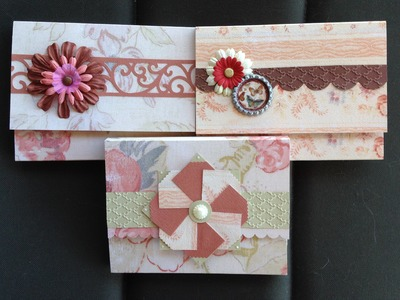 Make 2 Notecard Holders in 5 min from 1 piece of 12 X 12 cardstock