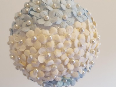 Mini Flowers & Pearls Ornament - DIY Christmas