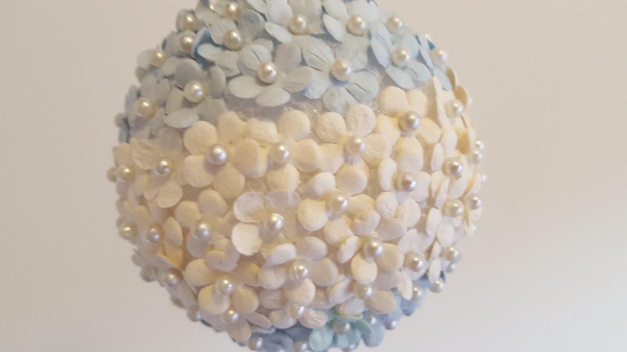 Mini Flowers & Pearls Ornament - DIY Christmas