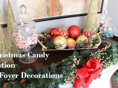 NEW Christmas Candy Station & Foyer.Entryway Decor
