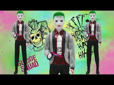 "Play Doh  JOKER  ""Suicide Squad"" Inspired Costume Ken Doll"
